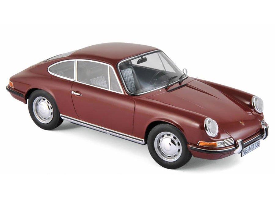 modellauto porsche 911 t 1969 dunkel rot norev 1 18 t ren motorhaube nicht zu ffnen. Black Bedroom Furniture Sets. Home Design Ideas