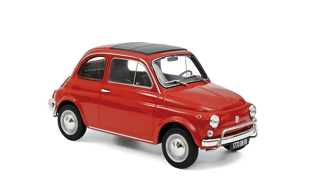 Modellauto Fiat 500 L 1968 - Corrallo Red Norev ...
