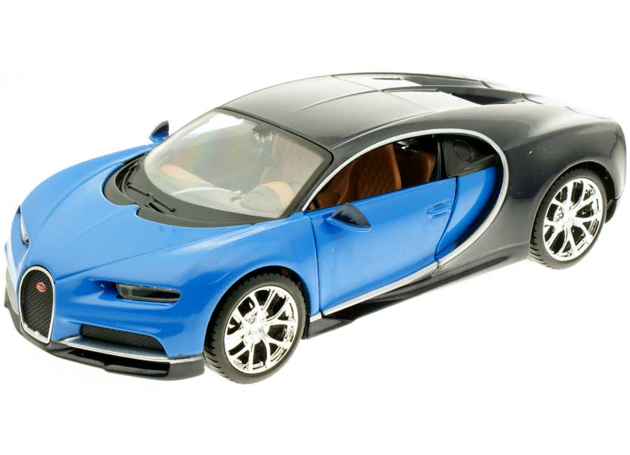 modellauto bugatti chiron blau dunkelblau maisto 1 24 bei. Black Bedroom Furniture Sets. Home Design Ideas