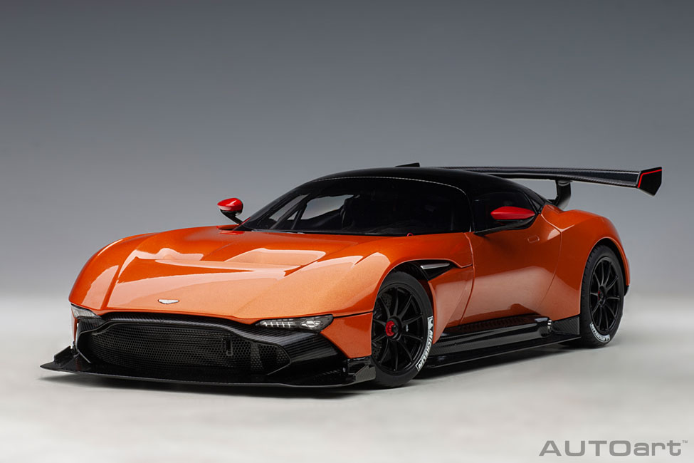 Modelcar Aston Martin Vulcan 2015 Madagascar Orange Composite Model Full Openings Autoart 1 18 At Modellauto18 De