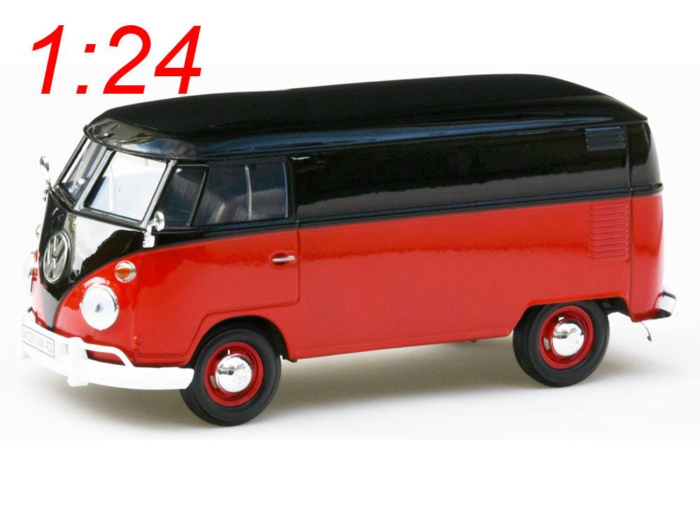 modellauto vw bus bulli t1 type 2 lieferwagen schwarz. Black Bedroom Furniture Sets. Home Design Ideas