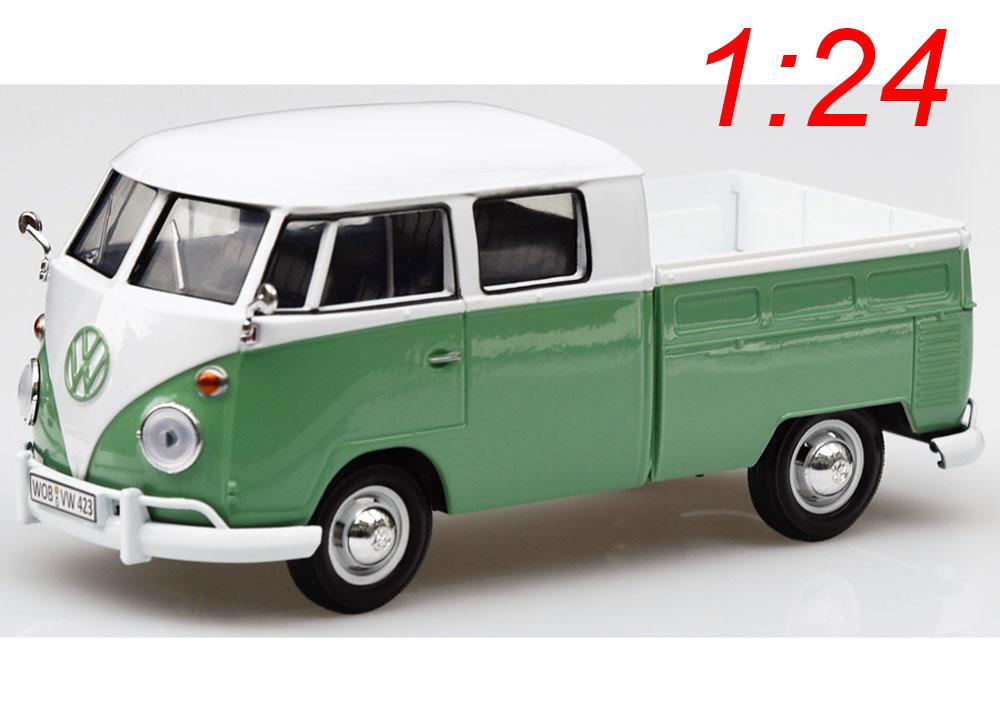 modellauto vw bus bulli t1 type 2 doppelkabine g n. Black Bedroom Furniture Sets. Home Design Ideas