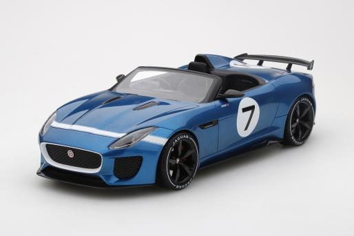 Modellauto Jaguar F Type Project 7 Concept Ecurie Blue Top Speed 1
