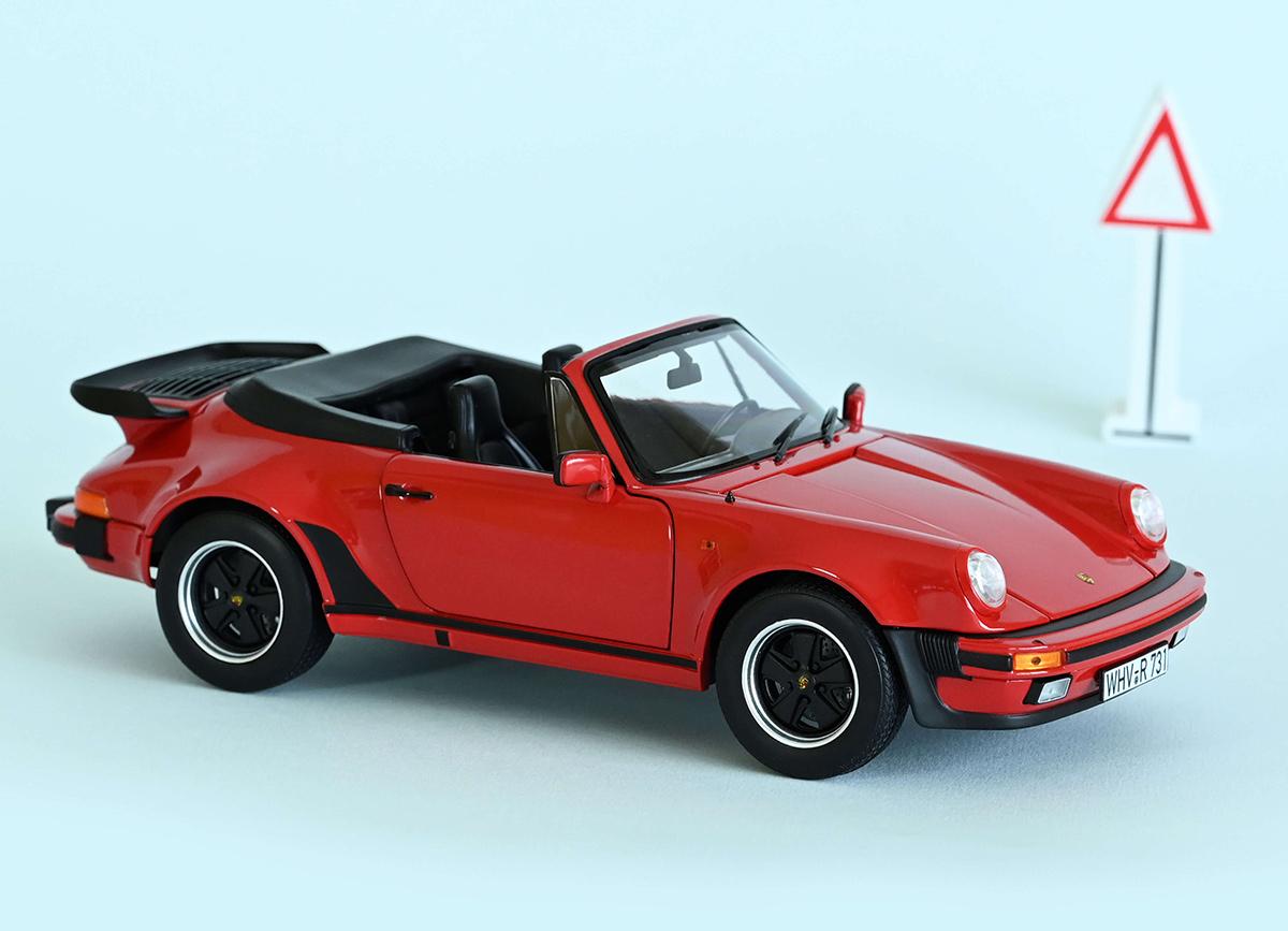 Porsche 911 Turbo Cabriolet 1987 Rouge Voiture Miniature 1:18 Norev