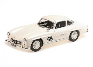MERCEDES-BENZ 300 SL (W198) – 1955 – WHITE L.E. 300 pcs. Minichamps 1:18