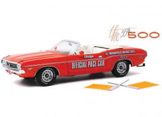 Dodge Challenger Convertible 1971 - 55th Indianapolis 500 Mile Race Dodge Official Pace Car *with Orange Flags included Greenlight 1:18 Greenlight 1:18