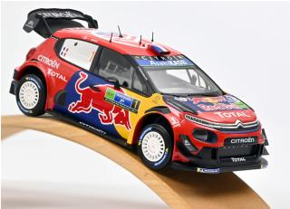 Citroën C3 WRC N°1 - Winner Rally Mexico 2019 - S.Ogier / J.Ingrassia Norev Metallmodell 1:18 (Türen, Motorhaube... nicht zu öffnen!)<br> Availability unknown (not before February 2020)