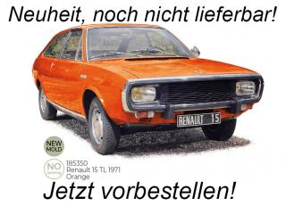 Renault 15 TL 1971 - Orange Norev 1:18 Metallmodell (Türen/Hauben nicht zu öffnen!)  Availability unknown (not before Q2 2021)