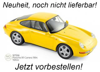 Porsche 911 Carrera 1994 - Yellow Norev 1:18 Metallmodell (Türen/Hauben nicht zu öffnen!) Availability unknown (not before Q2 2021)