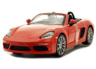 Porsche 718 Boxster orange Burago 1:24