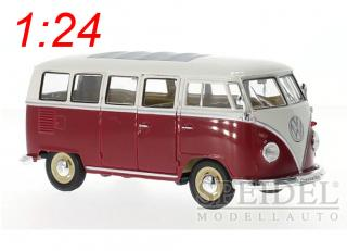 VW Bus 1962 rot-weiß Welly 1:24