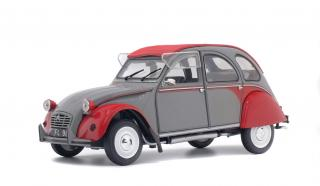 Citroen 2CV6 Dolly (1985) grau/rot Solido 1:18