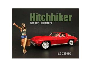 Hitchhiker Set. Set include 1x Driver and 1x Hitchhiking girl (Auto nicht enthalten!) American Diorama 1:18