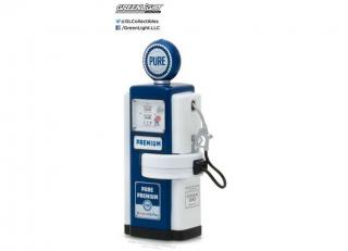 Zapfsäule 1948 Wayne 100-A Pure Oil Gas Pump *Vintage Gas Pumps Series 3* blue/white Greenlight 1:18