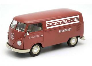 "Volkswagen T1 Bus ""Porsche Renndienst""  rot Welly 1:18"