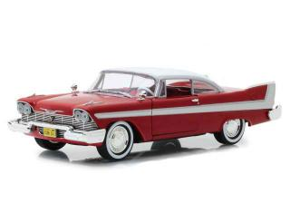 Plymouth Fury *Christine* With Clear Windows, red/white Greenlight 1:24
