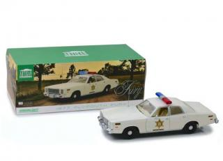 Plymouth Fury *Hazzard County Sheriff*, white 1977 Greenlight 1:18