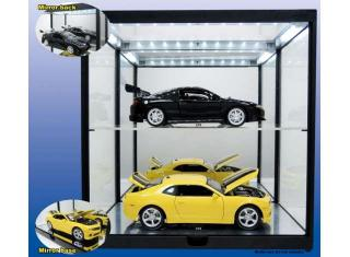 Double Led Show case schwarz (Autos nicht enthalten) Triple9 Collection 1:18