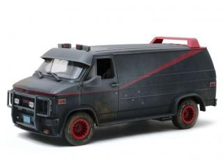 GMC Vandura 1983 Weathered Version with Bullet Holes *The A-Team 1983-87 TV Series*, grey/black Greenlight 1:18