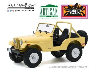 Jeep CJ-5 1980 *Charlie`s Angels 1976–81 TV Series*, yellow Greenlight 1:18