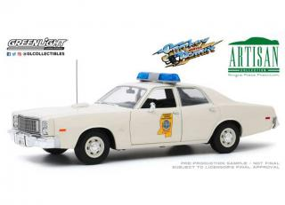 Plymouth Fury Mississippi Highway Patrol 1975 *Smokey and the Bandit 1977*, white Greenlight 1:18