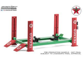 Hebebühne Four-Post Lift *Texaco*, green/red Greenlight 1:18