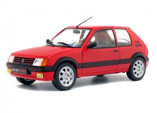 Peugeot 205 GTI MK1 1.9L rot/red 1988 Solido S1801702 1:18