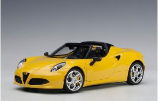 Alfa Romeo 4C Spider (giallo proto tipo/gelb) (COMPOSITE MODEL/removable bonnet + top panel) AUTOart 1:18