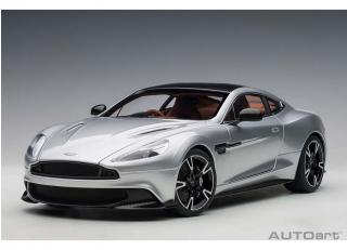 ASTON MARTIN VANQUISH S 2017 (LIGHTNING SILVER) (COMPOSITE MODEL/FULL OPENINGS) AUTOart 1:18