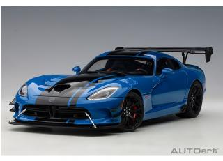 Dodge Viper ACR 2017 (competition blue/black stripes) (composite model/full openings) AUTOart 1:18