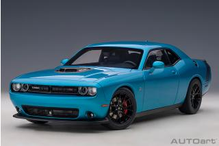 Dodge Challenger R/T SCAT Pack 2018 (B5 blue pearl coat) (composite model/full openings)  AUTOart 1:18