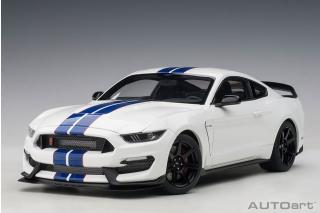 Ford Mustang Shelby GT350R (oxford white w/lighting blue) (composite model/full openings) AUTOart 1:18