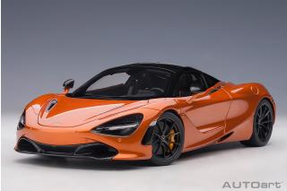 McLAREN 720S 2017 (AZORES/METALLIC ORANGE) (COMPOSITE MODEL/FULL OPENINGS) AUTOart 1:18
