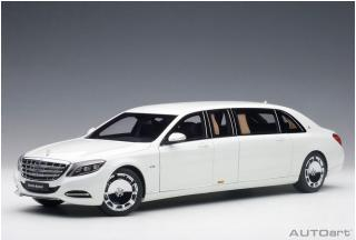 MERCEDES-MAYBACH S 600 PULLMAN (WHITE) 2016 (COMPOSITE MODEL/FULL OPENINGS) AUTOart 1:18