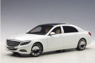 MERCEDES MAYBACH S-KLASSE S600 (SWB) (WHITE) 2015 (COMPOSITE MODEL/FULL OPENINGS) AUTOart 1:18