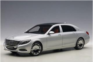 MERCEDES MAYBACH S-KLASSE S600 (SWB) (SILVER) 2015 (COMPOSITE MODEL/FULL OPENINGS) AUTOart 1:18