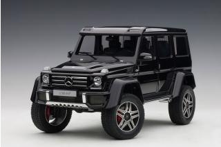 MERCEDES-BENZ G 500 4X4 2 2016 (GLOSS BLACK) (COMPOSITE MODEL/FULL OPENINGS) AUTOart 1:18