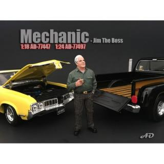 Figur Mechanic - Jim the Boss American Diorama 1:18 (Autos nicht enthalten)