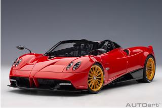 PAGANI HUAYRA ROADSTER 2017 (ROSSO MONZA/RED) (COMPOSITE MODEL/FULL OPENINGS) AUTOart 1:18