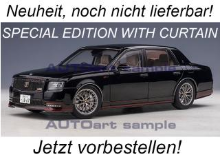 TOYOTA CENTURY SPECIAL EDITION WITH CURTAIN (BLACK) AUTOart 1:18 Composite <br> Availability unknown