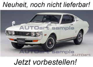Toyota Celica Liftback 2000 GT (RA25) 1973 (white) (composite model/full openings)  AUTOart 1:18 <br> Availability unknown