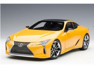 LEXUS LC500 (METALLIC YELLOW) (COMPOSITE MODEL/FULL OPENINGS) AUTOart 1:18