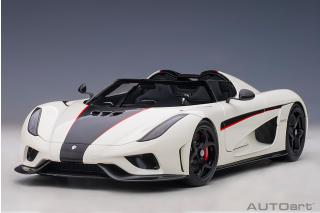 Koenigsegg Regera 2016 (crystal white/black carbon/ red accents) (composite model/full openings) AUTOart 1:18