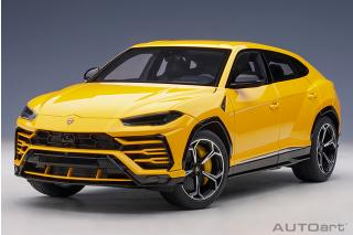 Lamborghini Urus 2018 (giallo auge/solid yellow) (composite model/full openings) AUTOart 1:18