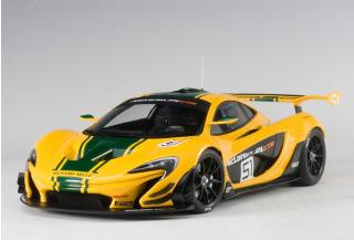 McLaren P1 GTR (YELLOW/GREEN STRIPES) #51 2015 (COMPOSITE MODEL/2 DOOR OPENINGS) AUTOart 1:18