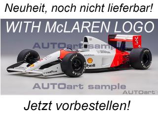 McLAREN HONDA MP4/6 1991 G.BERGER #2 (WITH McLAREN LOGO) AUTOart 1:18 Composite <br> Availability unknown