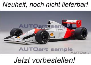 McLAREN HONDA MP4/6 1991 G.BERGER #2 (WITHOUT McLAREN LOGO) AUTOart 1:18 Composite <br> Availability unknown