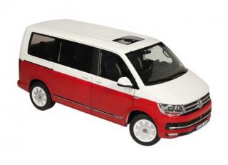 Volkswagen VW T6 Multivan (Generation Six) - red/white NZG 1:18