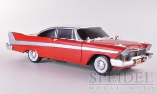 Plymouth Fury, rot/weiss, ``Christine`` , 1958 Silver Screen Machines Ertl American Muscle  Auto World 1:18
