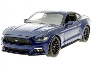 Ford Mustang GT 2015 blau Welly 1:24